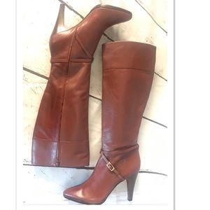 Banana Republic Tall Cognac Leather Boots